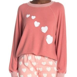Wildfox Cupids Trail Sommers Sweater Sz Large Pink